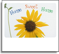 Colorful Home Sweet Home Custom Floor Mat