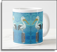 Tropical Pelican 20oz Jumbo Coffee Mug