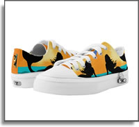 Mermaid on The Beach Low Top ZIPZ® Shoes