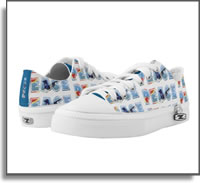 Peace with Hummingbird And Flower Sneaker Low Top ZIPZ® Shoes