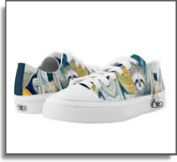 Sloth in the rainforest  Low Top ZIPZ® Shoes