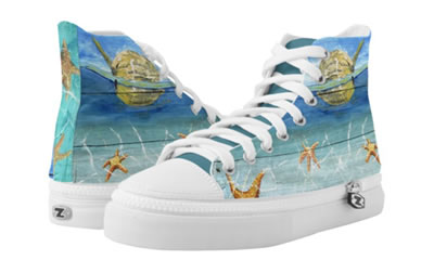 Cute & Colorful Starfish Sky Low Top ZIPZ® Shoes