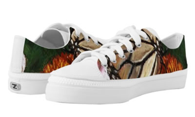 Cute Colorful Butterfly Low Top ZIPZ® Shoes